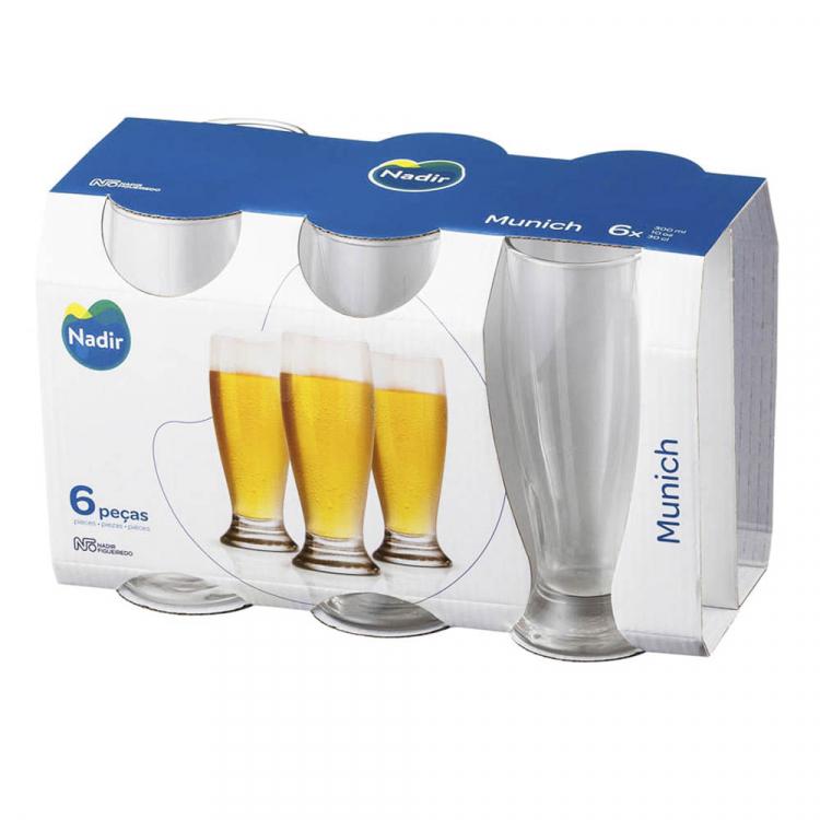 Set 6 Vasos Cerveza Munich 300ml