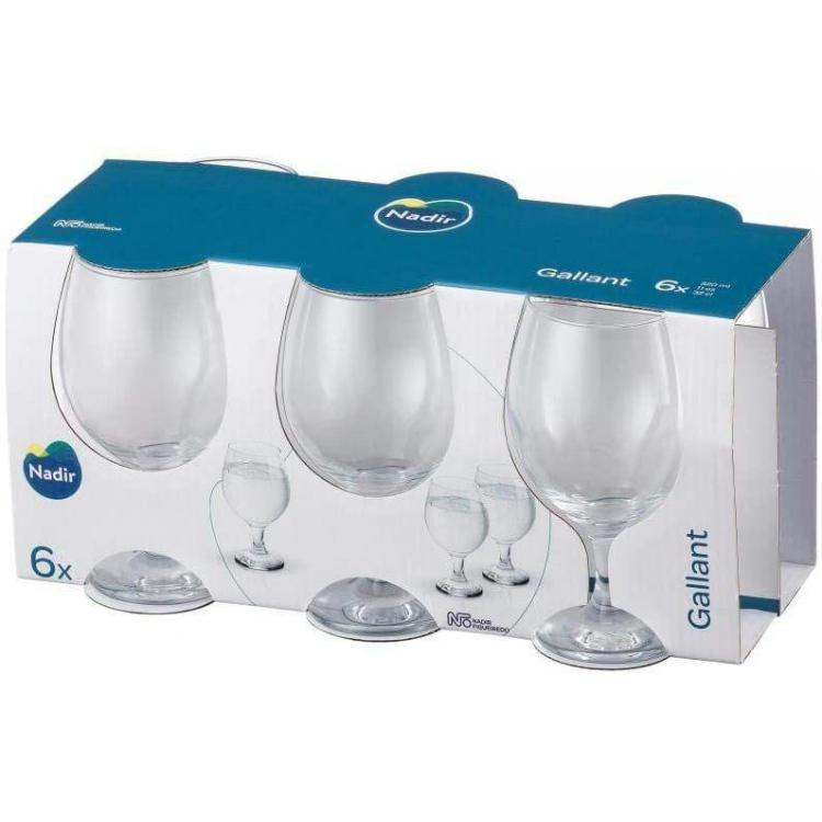 Display 6 Copas Agua Gallant 320ml